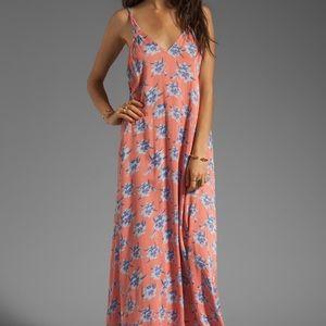 Acacia Hana Backless Long Dress in Vintage Aloha